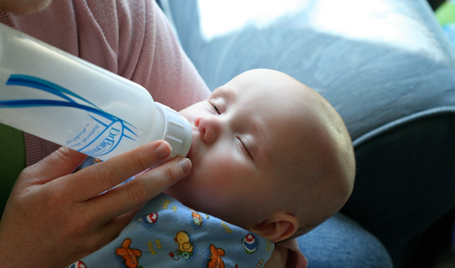 Baby with deadly bottle