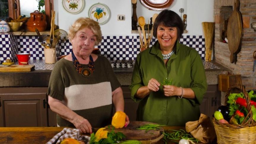 Oretta Zanini de Vita and Maureen Fant, co-authors of Pasta the Italian Way