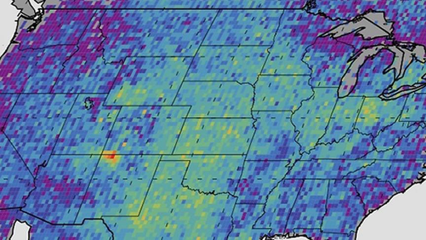 NASA methane hotspot