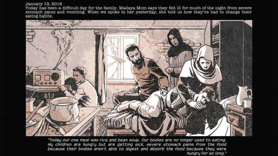 "The new digital comic ""Madaya Mom"" gives life to a story TV cameras can't reach."