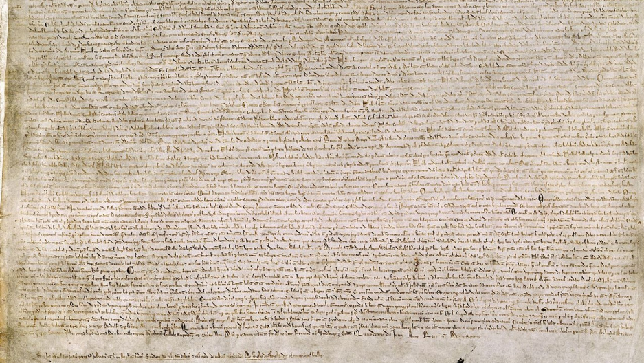 The Magna Carta is written on vellum, just like the laws of the English parliament (until April)