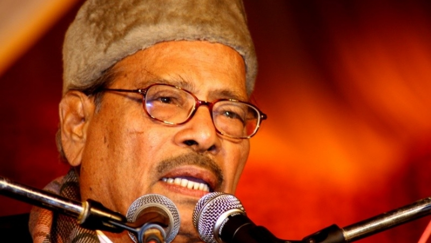 Bollywood playback singer Manna Dey at an award ceremony in 2007.