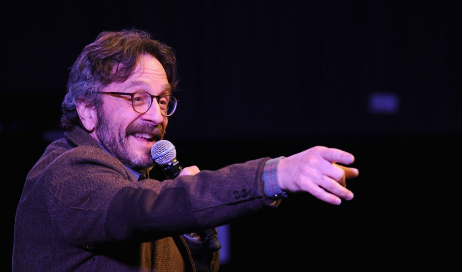 Comedian Marc Maron performs on stage at The New Yorker Comedy Playlist, 2014.