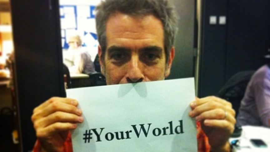 The World's Marco Werman makes a call out to our #YourWorld hashtag.