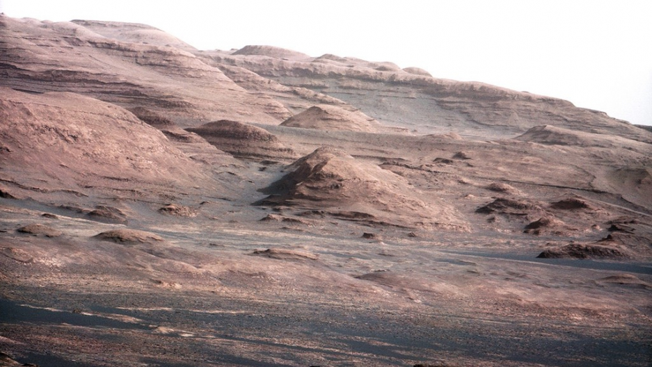 An image of the Martian landscape taken by NASA's Curiosity rover