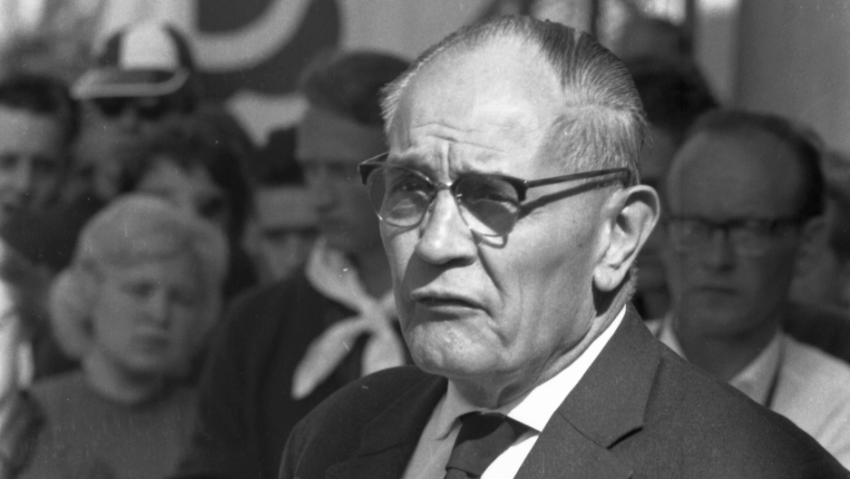 Martin Niemöller at the 8th World Youth Festival.