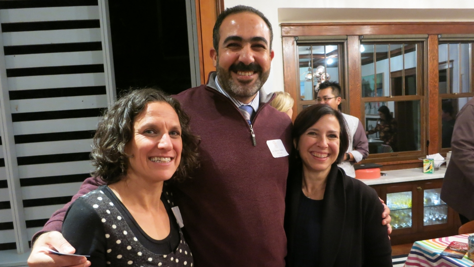 Iraqi-trained physician Marwan Sweedan and the co-founders of Global Talent Idaho, Tara Wolfson (left) and Lisa Cooper.