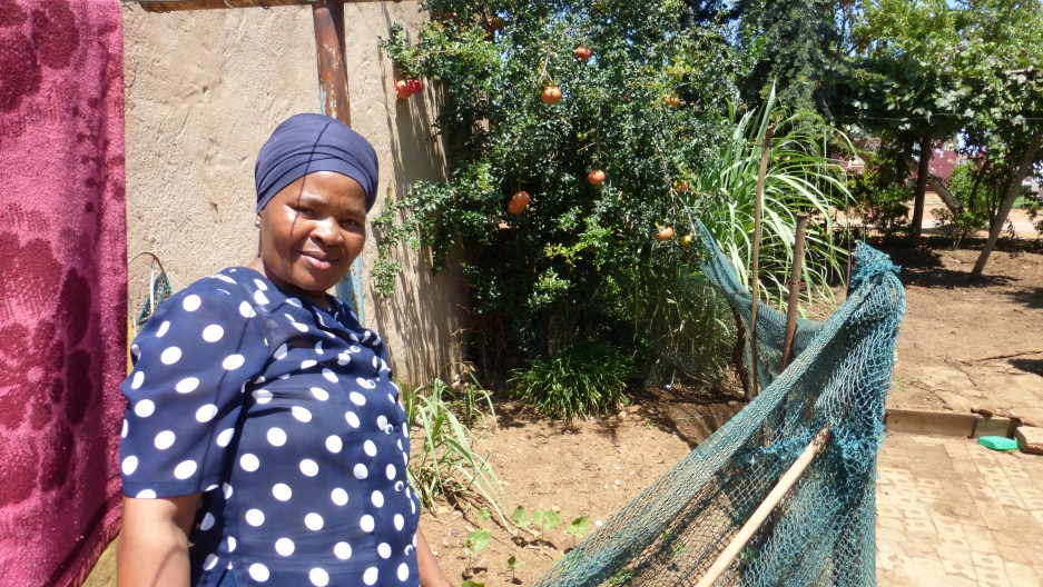 "Mavis, a housekeeper from the Pretoria township of Mamelodi, depends on her garden to help provide for her five children and seven grandchildren. But with this year's region-wide drought, her garden is just a dusty patch of seedlings. ""I want rain every d"