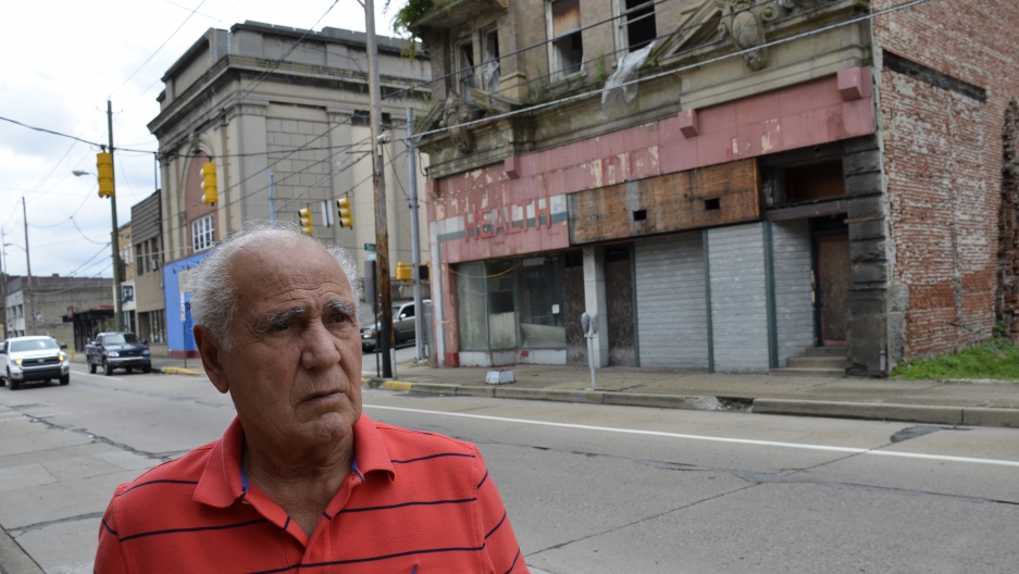 Lou Mavrakis, mayor of Monessen, needs to tear down some 400 blighted homes and 30 downtown buildings. He says he's appealed to federal elected officials for help, but has been ignored.