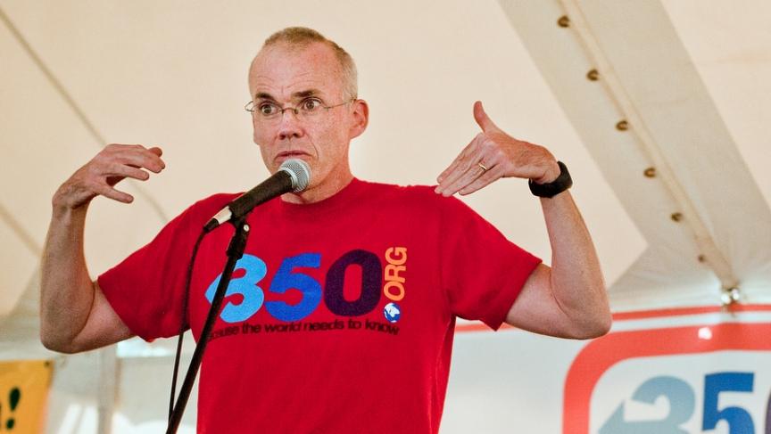 Climate change activist Bill McKibben speaking in Waitsfield, Vermont in 2012.