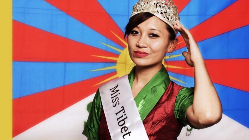 Miss Tibet 2013, Tenzing Lhamo, is a Tibetan American living in Madison, Wisconsin.