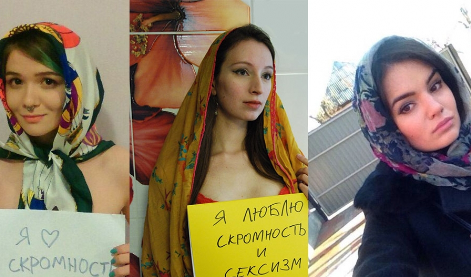 "A small collection of the submissions to the ""Russian Beauty"" contest (from both competitors and protesters)."