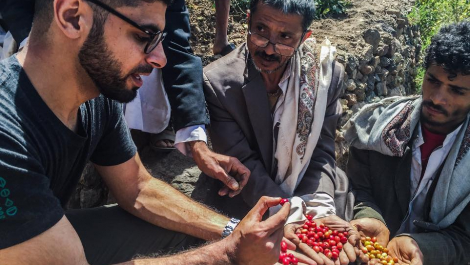 Over the past year, Mokhtar Alkhanshali, who lives in California, has worked with Yemeni coffee farmers to promote their beans to the world.