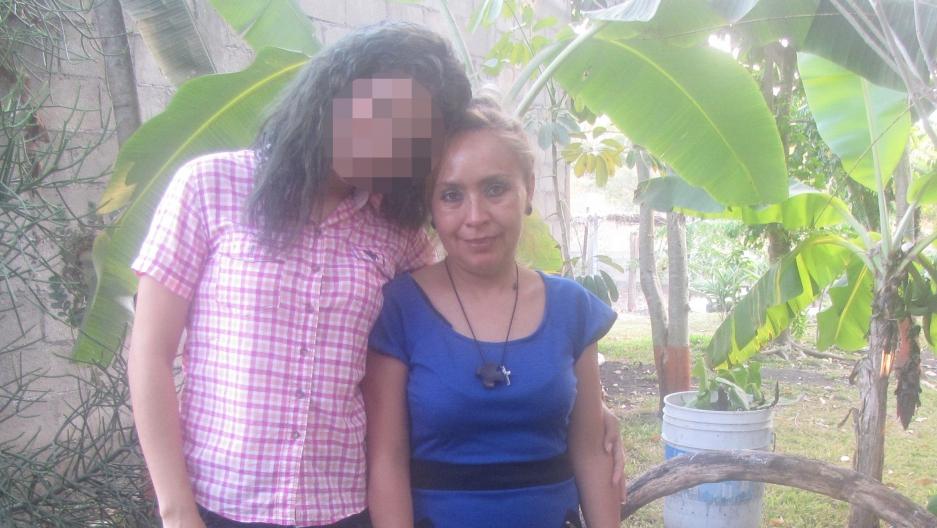 Mona (left) with Elvira Gordillo Rivera in Rivera's garden in Comalapa, Mexico.