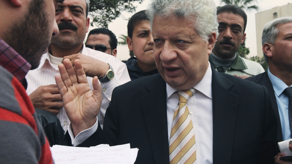 Mortada Mansour in 2012 after he announced his candidacy for Egyptian president.