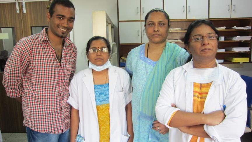 A medical team at Tata Memorial Hospital.