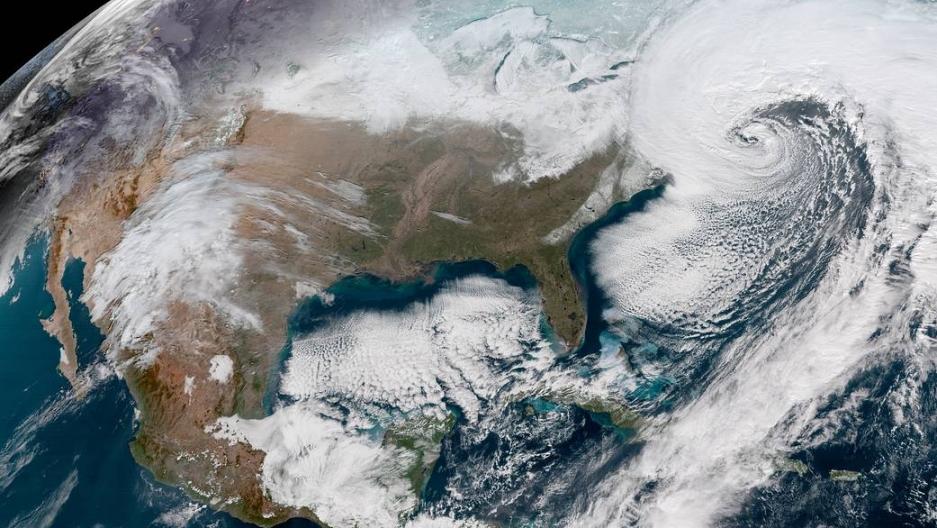 Satellite image of the United States on January 4