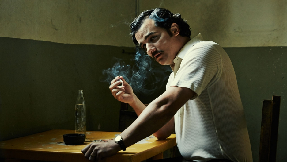 "Actor Wagner Moura plays drug kingpin Pablo Escobar in the Netflix show ""Narcos."""