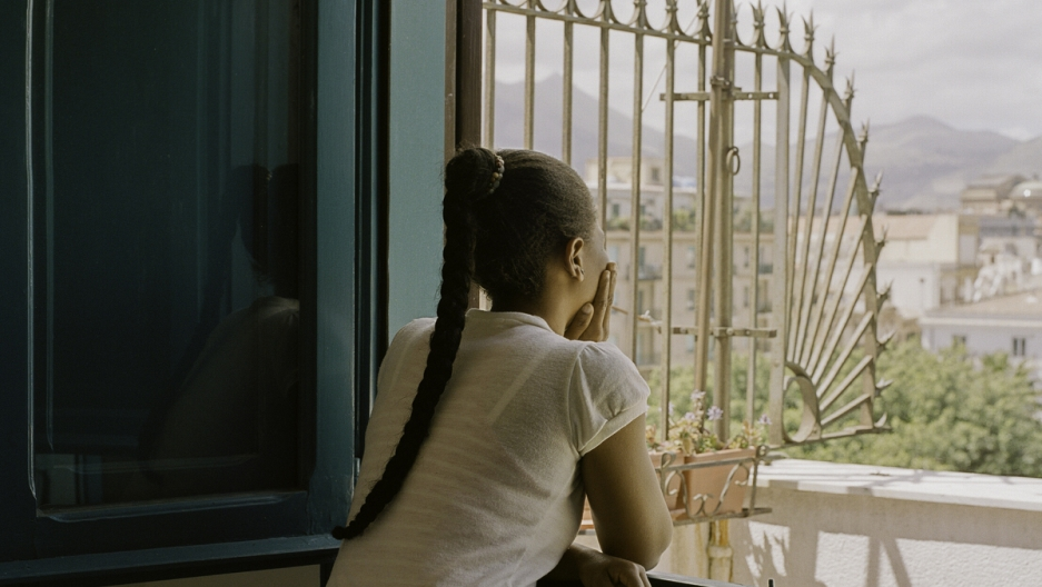 Portrait of a woman from Nigeria trafficked into Sicily