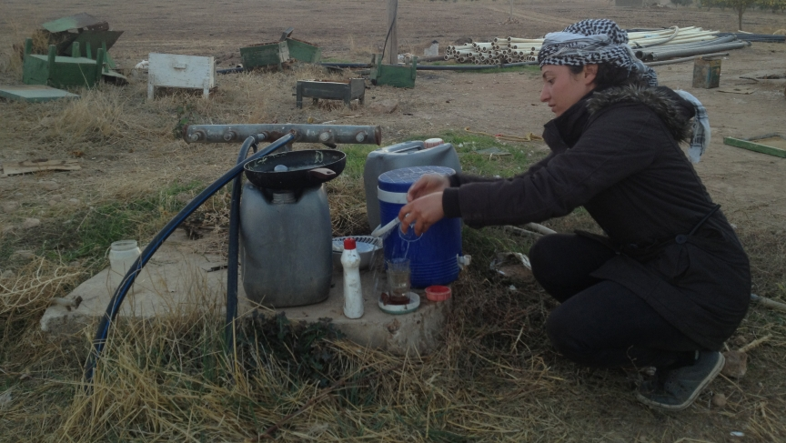 Kurdish rebel fighter in Syria