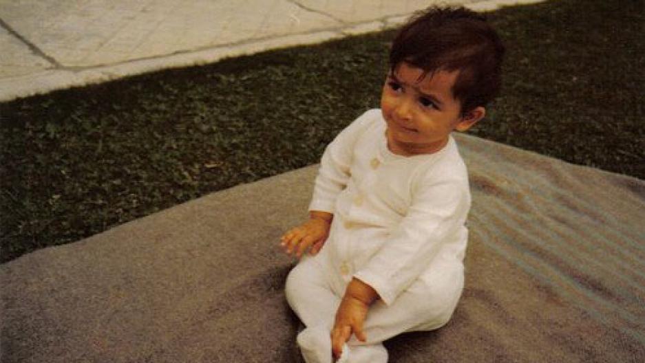 Farideh in 1977 at an orphanage in Tehran.