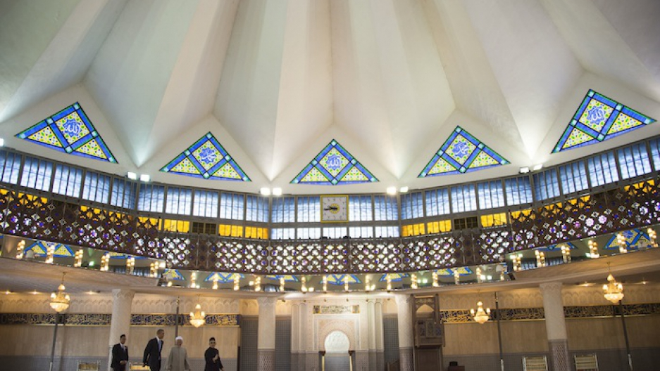 In Malaysia, President Barack Obama took a tour of the National Mosque on April 27, 2014.