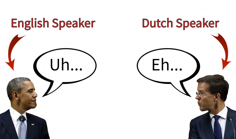 "US President Barack Obama and Dutch Prime Minister Mark Rutte both favor ""uh"" (or ""eh"" in Dutch) over ""um."" Younger people and women are more likely to say ""um."""