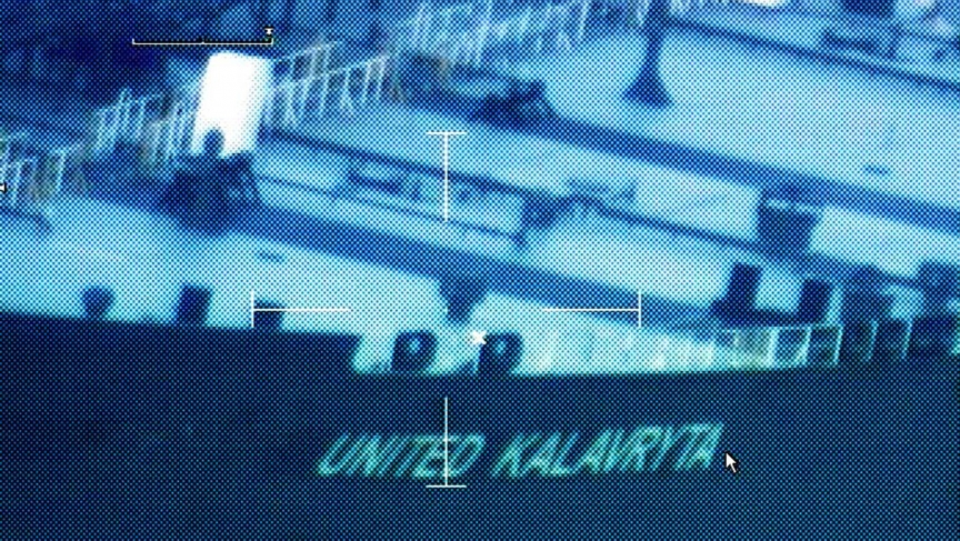 The oil tanker United Kalavrvta is anchored in limbo off