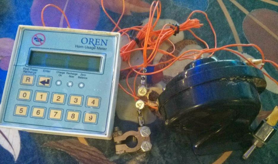 The horn usage meter called Oren, developed by Indian economist Jayraj Salgaonkar.