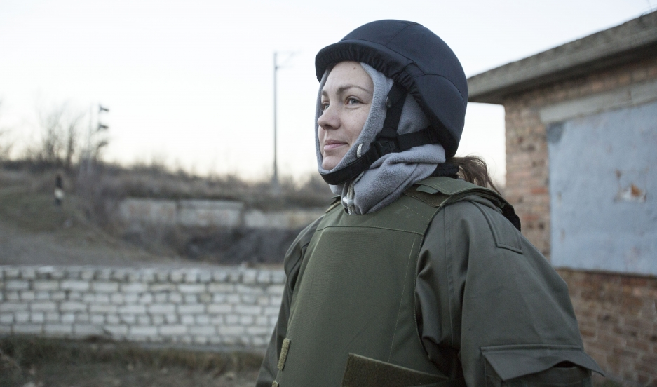 Anna Sandalova, the founder of Help the Army of Ukraine delivered supplies to Ukraine's cash-strapped soldiers in Artemovsk, Donetsk so they could build winter shelters.
