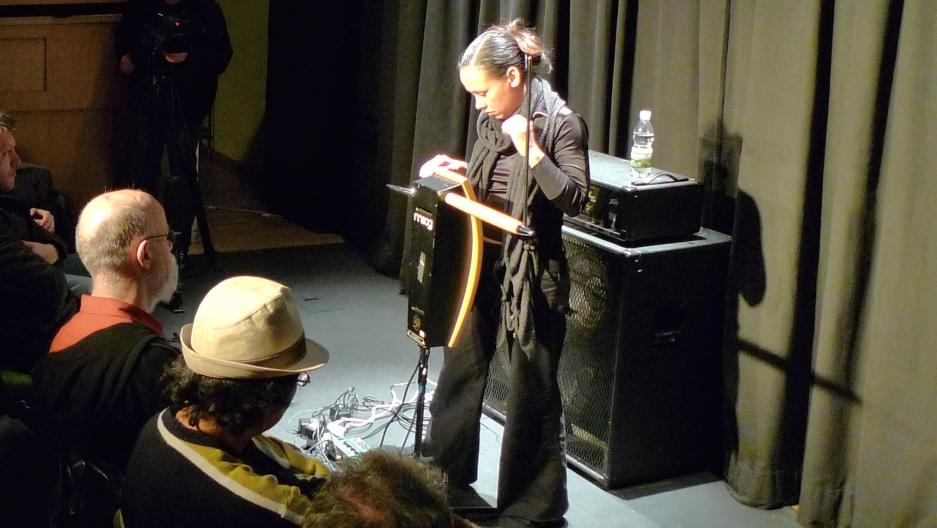 Theremin virtuoso Pamelia Stickney gives Kurt Andersen a