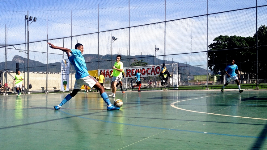 The final of the People's Tournament held in the Rio favela called Morro do Pinto