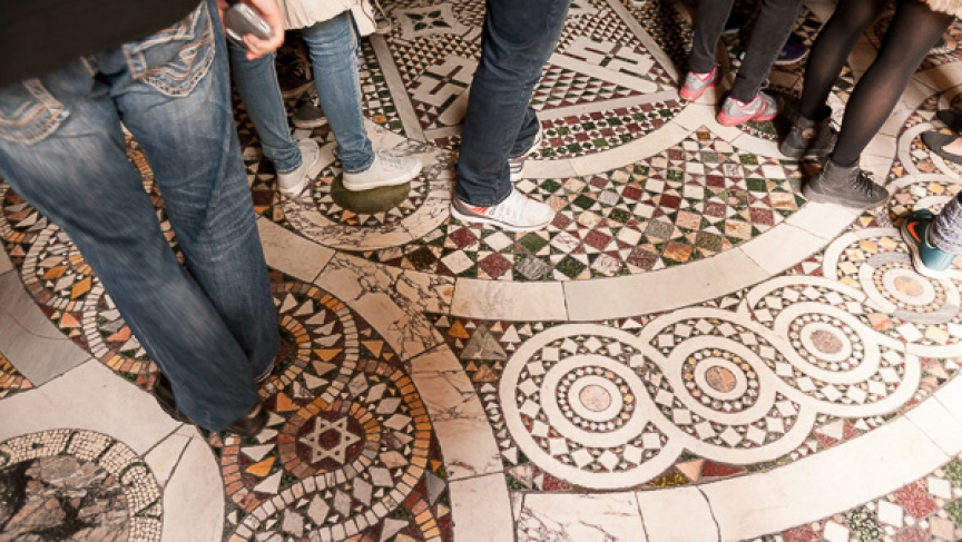 Visitors to the Vatican often overlook the historical significance of the building's floors, which are frequently made from re-purposed bits of ancient history.