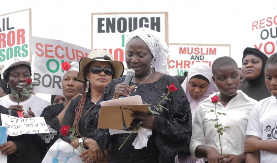 Nigerian pastor Esther Ibanga joined with Muslim leaders in the city of Jos to call for the return of Chibok girls who were kidnapped by the extremist group Boko Haram.