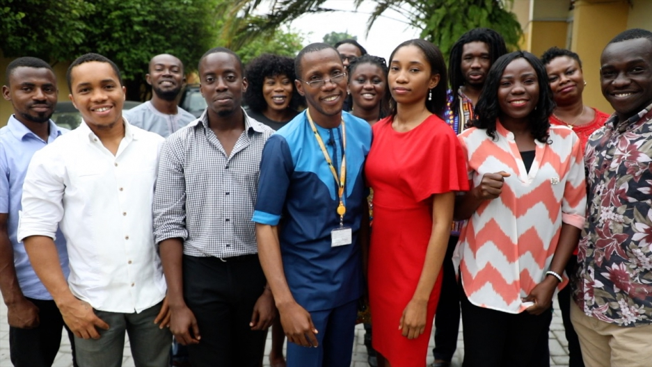 The BBC Pidgin team in West Africa.