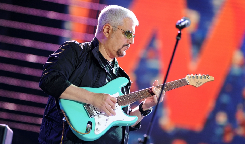 Pino Daniele attends the Wind Music Awards Show at the Arena of Verona on May 28, 2010 in Verona, Italy.