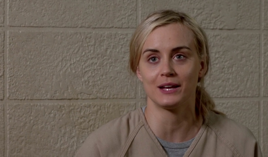 "Actress Taylor Schilling as Piper Chapman in ""Orange is the New Black."""