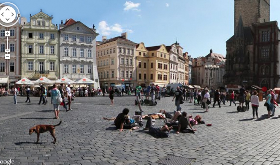 STREET VIEW OF PRAGUE — The red dots are recordings taken from those locations. Aporee has the equivalent of 63 days worth of sound uploaded from all over the world.