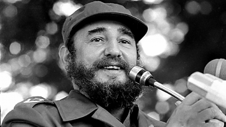 Fidel Castro speaks during a visit to Luanda, Angola in March, 1984. Picture taken March 1984.