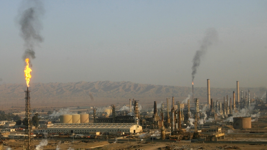 A general view of the Baiji oil refinery, Iraq's largest, in 2009. Today it's being held — barely — by Iraqi forces against ISIS fighters.