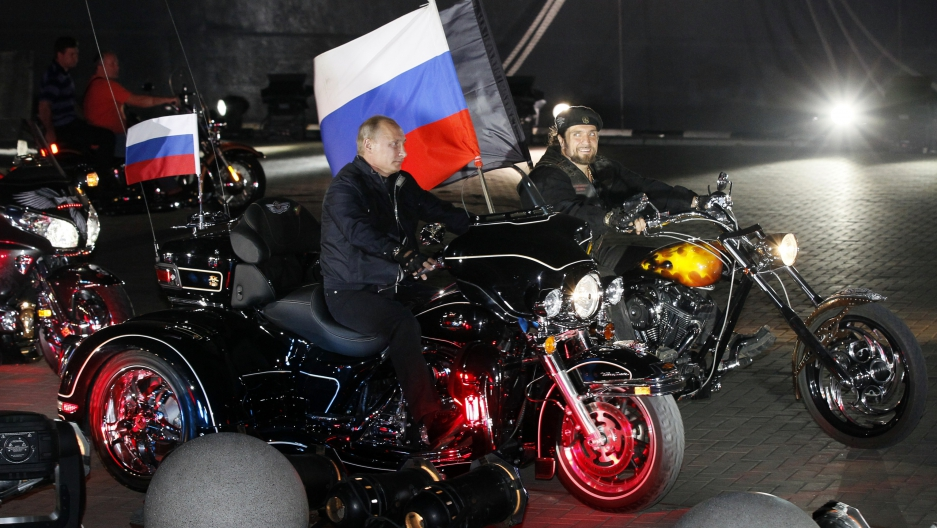 President Putin has used the Night Wolves in public appearances. In 2011 he rode with the group in the Russian city of Novorossiisk.
