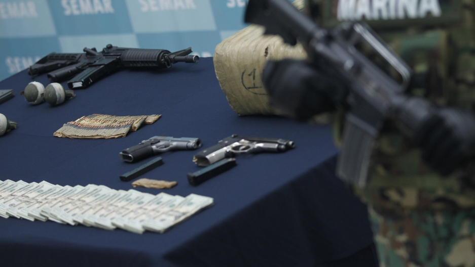 Many of the arms used by Mexican cartels come from the US and Central America, but that's not the full story.