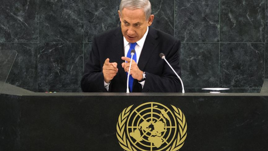 Israel's Benjamin Netanyahu at the United Nations in New York. (Photo: REUTERS/Adrees Latif)
