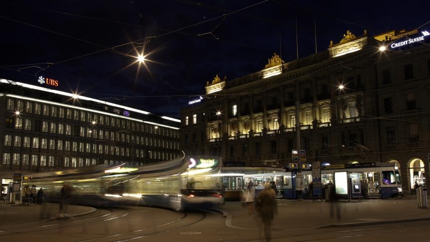 A Credit Suisse office in Zurich, Switzerland. Will the $2.6bn fine make them stop?