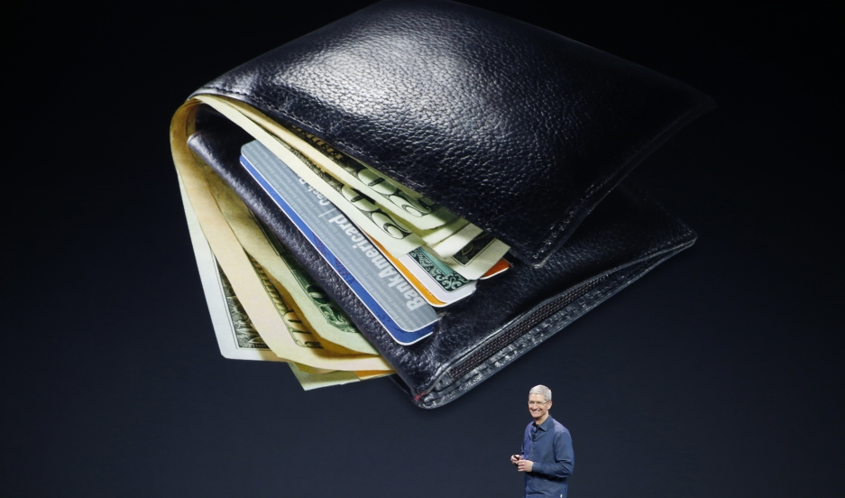 Apple CEO Tim Cook speaks about Apple Pay during an Apple event at the Flint Center in Cupertino, California, on September 9, 2014.