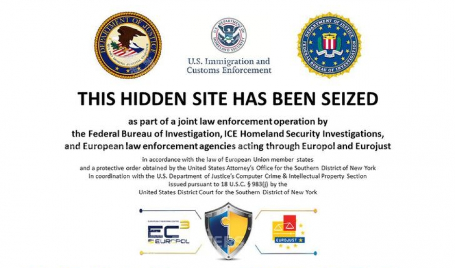 A screenshot of  the Silk Road website, allegedly an underground online drug market, after it was closed by U.S. authorities November 6, 2014.