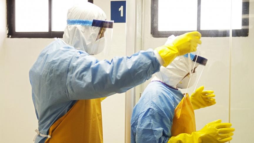 Sharon McDonnell, an epidemiologist in Monrovia, describes her ...