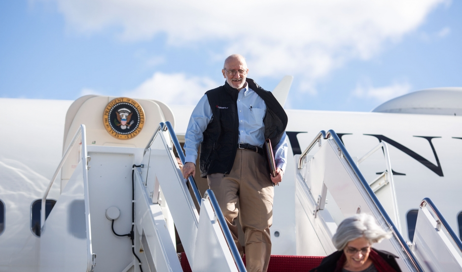 Alan Gross at Joint Base Andrews in Maryland