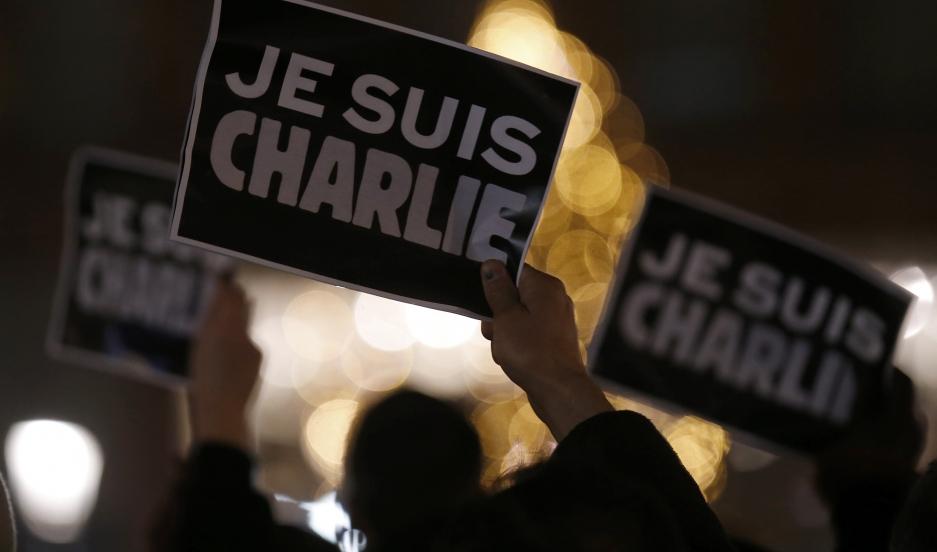 A Strasbourg memorial for Charlie Hebdo