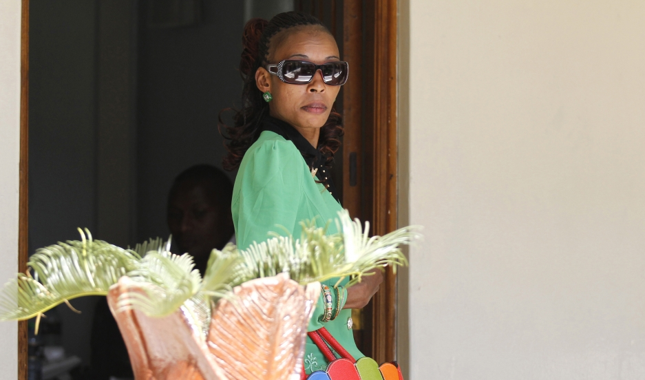 Kenyan marathon runner Rita Jeptoo arrives at the Athletics Kenya headquarters after failing a doping test, in Kenya's capital Nairobi, January 15, 2015.
